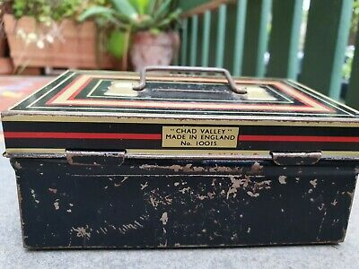 Vintage Safe Box Money Tin Made in England