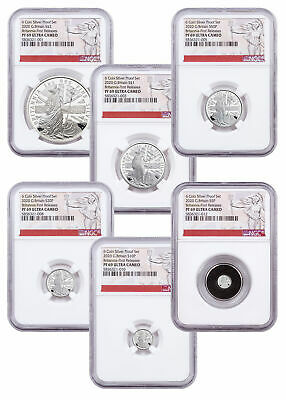 2020 Great Britain Silver Britannia 6-Coin Proof Set NGC PF69 UC FR SKU60870