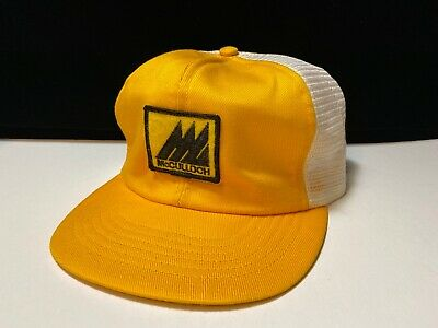 Vintage McCulloch Chainsaw Snapback Trucker Hat Mesh Patch Swingster USA
