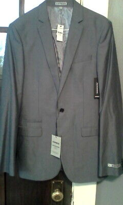 NWTS Mens Gray Jacket by Express Photographer Fitted Size 38Long