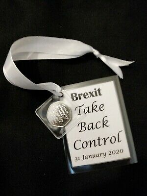 2020 Brexit 50p Coin presented with a card. keepsake/gift.  Take back control