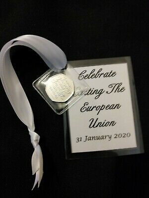 2020 Brexit 50p Coin & card.keepsake/gift. Celebrate exiting the european union