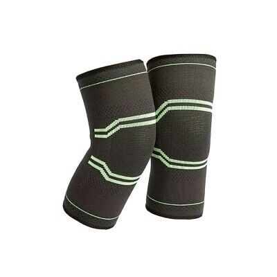 2 Knee Sleeve Compression Brace Support -Sport Joint Pain Arthritis Relief - S