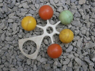 Vintage Baby Rattle Toy Plastic Racing Toy