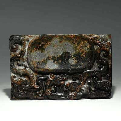 Collectable China Old Meteorolite Hand-Carve Myth Dragon Moral Auspicious Statue
