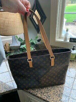 Authentic Louis Vuitton Luco M51155 Bag Tote Computer Work Brown Monogram GUC US