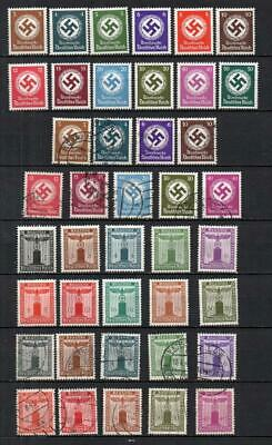 Germany Third Reich 1942 Officials/Party Stamps No Wmk UMM/Used Very Good LotG24