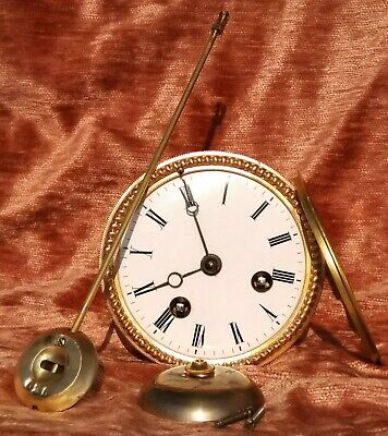 beautiful small french clock movement for a mantel clock