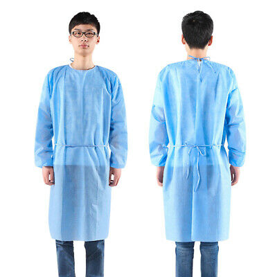 Disposable Dustproof Isolation Gown Blue Protection Gown Clothing 3/4-Cover Hot