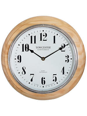Acctim 74471 Haswell Radio Control Wall Clock With Pine  Wood Trim (Our Ref5R)