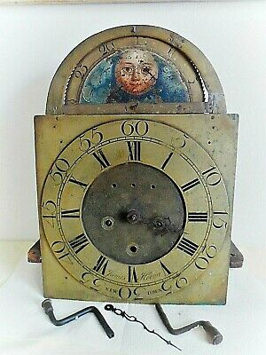 Antique Grandfather  Longcase  Moonphase  Clock Movement/James Heron Newtown