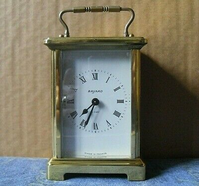 Bayard Carriage Clock By Duverdrey & Bloquel France 8 Day 9 Jewels Wind Up