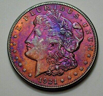 1921-S Morgan Dollar  BETTER DATE, TONED US Silver Coin, No Reserve ..