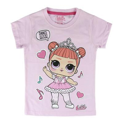Girls Kids LOL Surprise Dolls Short Sleeve Cotton T Shirt Age 4-6