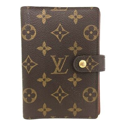 100% Authentic Louis Vuitton Monogram Agenda PM Notebook Cover /ee73