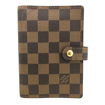 100% Authentic Louis Vuitton Damier Agenda PM Notebook Cover /ee103