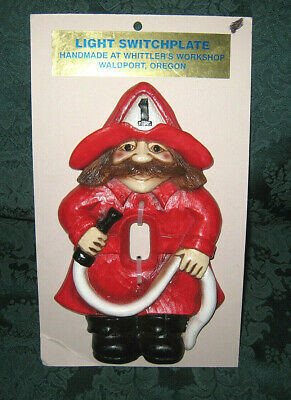 FIREMAN LIGHT SWITCH PLATE Whittler Workshop Oregon - NEW - ONE OF A KIND! LQQK