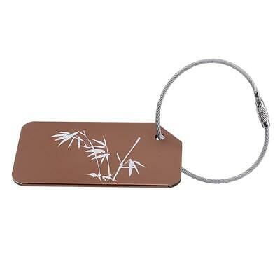 Luggage Tag Travel Suitcase Bag Name ID Tags Address Label Baggage Card Holder N