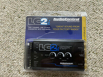 AudioControl LC2I 2 Channel Line Converter with AccuBASS - Black