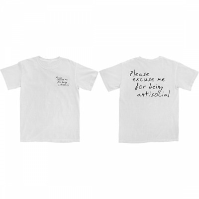 RODDY RICCH PLEASE EXCUSE ME T-SHIRT WHITE S-5XL 2 Sides Reprinted