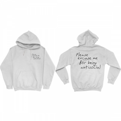 RODDY RICCH PLEASE EXCUSE ME HOODIE WHITE Unisex S-5XL Reprinted
