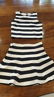 Seed Girls Striped Skirt (size 10) & Top (size 12)