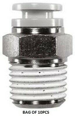 SMC KQ2H05-01S, Connector, R 1/8 Male, Push In 3/16 in - New