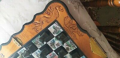 Collectors Jade Chess Set Carved Vintage Pieces With storage Box