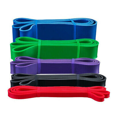 EL Resistance Bands Power Lifting Exercise Band Fitness Pull Up Band Latex UK