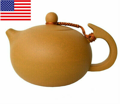 Yixing Teapot 8oz Chinese Zisha clay Xishi Tea Pots Natural Yellow Mud handmade