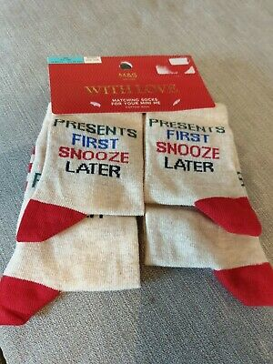 Brand New Marks And Spencer's Child's Christmas Socks Age 3-6 Years
