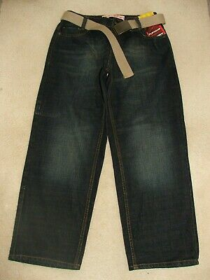 Boys Flipback Plus Fit Straight Blue Jeans Age 11 years Waist 33 inches BNWOT