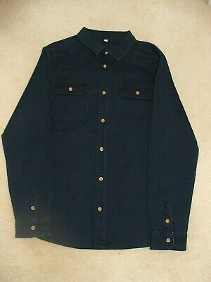 Boys Marks & Spencer Blue Denim Stretch Shirt Age 11 to 12 Years BNWOT