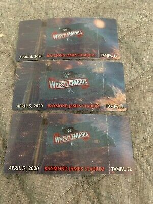 Unused Wrestlemania 36 Tickets! Event Cancelled, Now Highly Sought Collectibles!