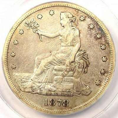 1878-S Trade Silver Dollar T$1 - ANACS XF40 Detail (EF40) - Rare Certified Coin!