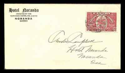 Canada #E7 Special Delivery Air Mail  RPO combo 1939, Royal Train cancel
