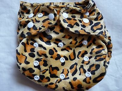 New Minky Leopard Cloth Diaper Cover Double Gusset FlipThirstieBummis PUL EB1
