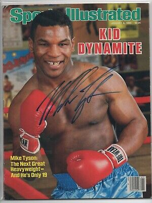 MIKE TYSON signed 86 Sports Illustrated FIRST COVER FC AUTOGRAPH IN PERSON Proof