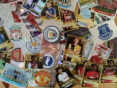 Panini Premier League 2020 - 20 Random Shiney/Foil Football Stickers