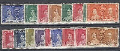 British Commonwealth KGVI 1937 Coronation Collection Mint MNH/MH J9015