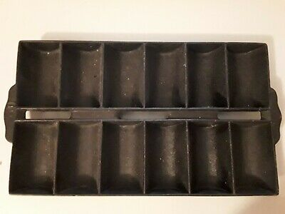 Vintage Antique Cast Iron 12 Muffin Pan