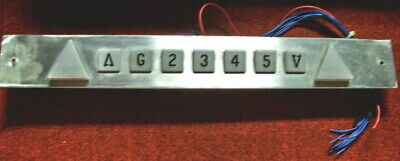 Elevator Floor Indicator & Direction Arrows Fixture w/Arrival Bell Gong - Wired