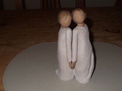 """Willow Tree """"Two Alike"""" Hand Painted Sculpted Figure Twins Susan Lordi 2004"""