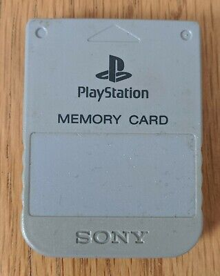 Official Grey Sony Playstation 1 / PS1 Memory Card - Genuine