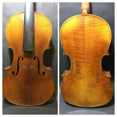 Quite A Nice Old Violin 4/4 Size No Makers Label And Has Signs Of Wear
