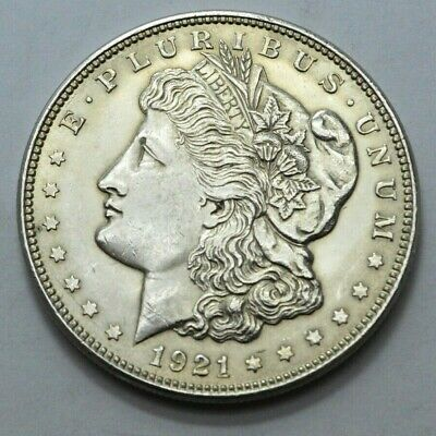 1921-P Morgan Dollar US Silver $1.00 Coin, No Reserve . Price .!