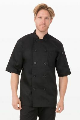 Chef Works Black Chef Coat Sz S