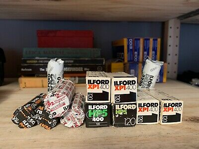 Ilford 120 Film Lot of 12 Rolls Expired HP5, Delta, XP2 Super, XP1, PANF