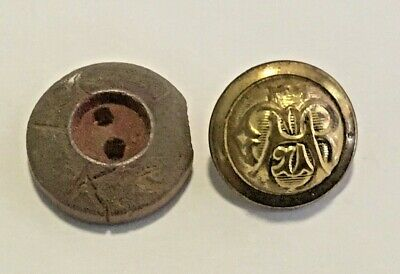 Vintage GAR button and a Hand-Carved wood button two-hole ? Military ?