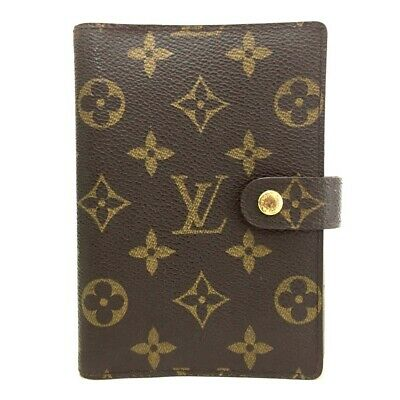 100% Authentic Louis Vuitton Monogram Agenda PM Notebook Cover /ee118